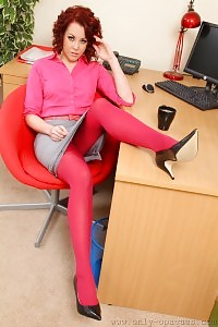 Flexible Ami Teases In Her Office Apparel And Pink Undie