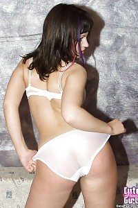 Nubile Girl Likes To Show Her White Seethru Panties