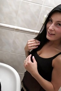 Lexi Dona Gets Rammed And Slurps Cum In Club Restroom
