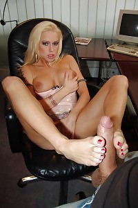 Big-tittied Blondie Stacy Silver Does A Horny Striptease And Brings Her Boy A Foot Job Before Taking Penetrated