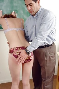 Playful Tramp Gets Punished By Her Professor And Discipline Her With Naughty Butt Spanking